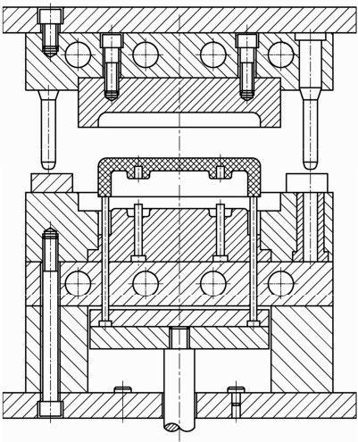 简述压缩模结构和固定式压缩模的工作过程及结构组成