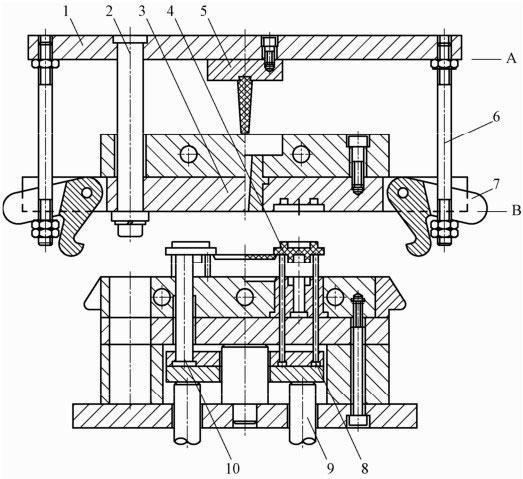 简述固定式料槽压注模的特点以及其模具的工作过程