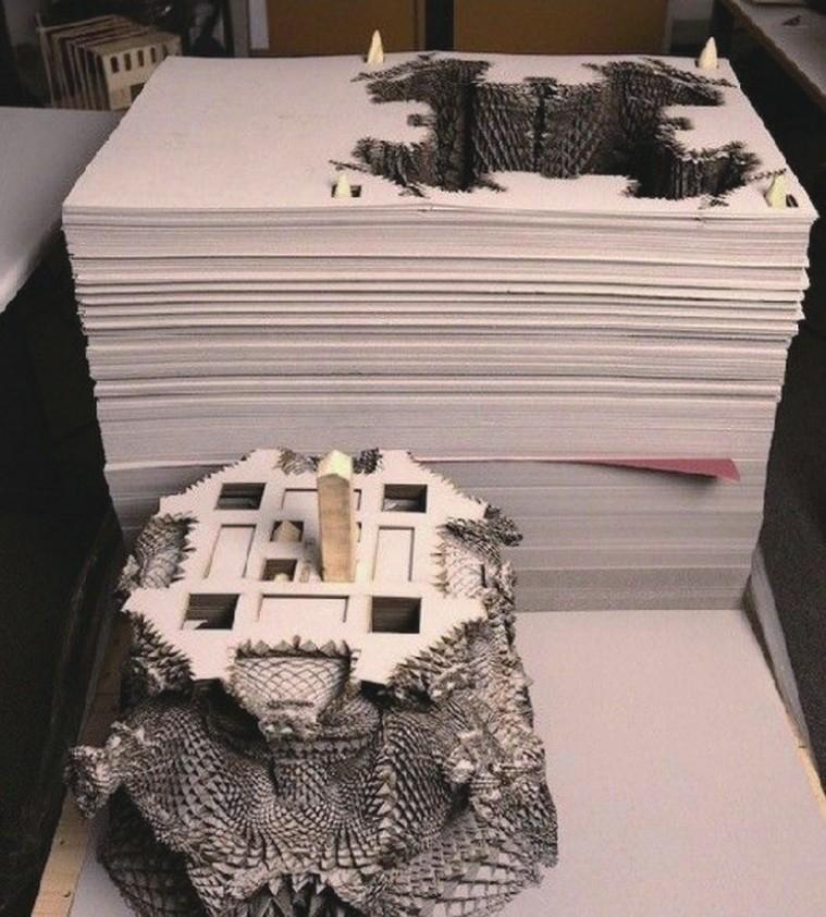 简述3D打印中层叠法成型LOM的工艺过程